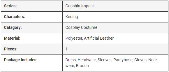 Game-Genshin-Impact-Keqing-Cosplay-Costume