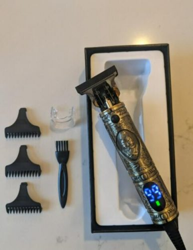 Hair Clipper Barber Trimmer for Men (Silver) photo review