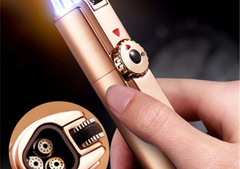 JOBON-3-Jet-Flame-Lighter-Gas-Torch-Lighter-Windproof-Metal-Cigar-Lighter-Butane-Lighter-Cigarette
