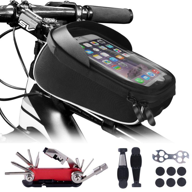 Bike-Phone-Front Frame-Bag-with-Repair-Tool-kIt