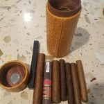 COHIBA Leather Cigar Case with Humidifier Hygrometer photo review